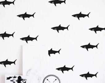 Vinyl Wall Sharks