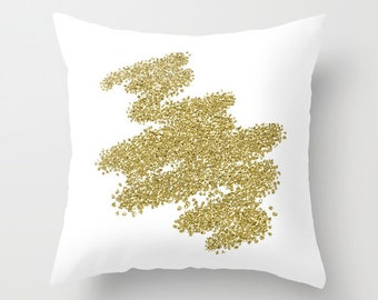 Gold Pillow, Velveteen Gold Pillow Cover, Gold, Decorative Pillow, Gold Accent Pillow, 18x18 Pillow Cover, 22x22 Pillow, Gifts for Her