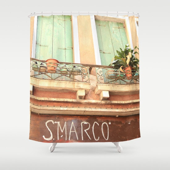 Italy shower curtain venice shower curtain italy decor for Bathroom accessories made in italy