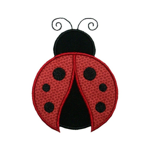 Ladybug Applique Machine Embroidery Design Bug