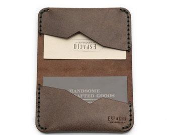 Card Collector Leather Wallet, husband gift, simple wallet, wedding gift, groomsmen gift, men's gift, handmade wallet, business card holder