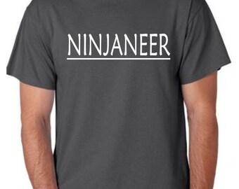 Ninja t-shirt, men's t shirt, custom tshirt, personalized men's t-shirt, funny saying tshirt, mens cotton t shirt
