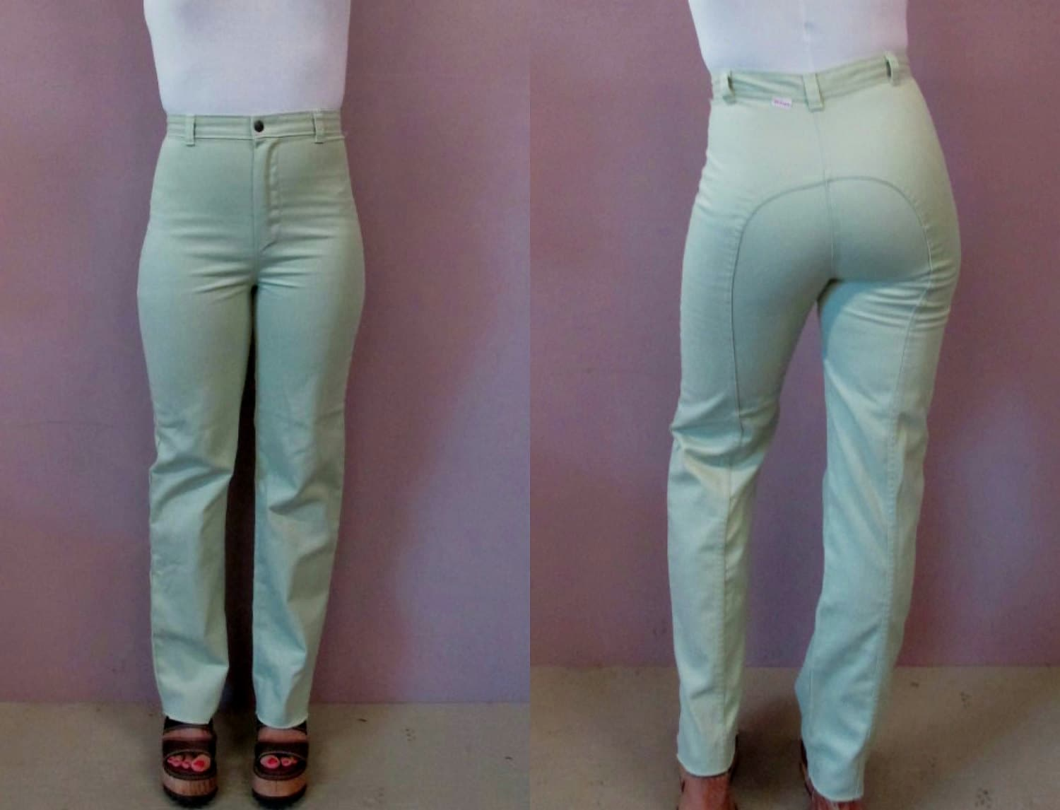 Vintage Dittos Jeans//1970s high wasited saddleback straight