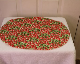 Set of 4 oval placemats