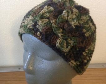 Camo Headband | Camo Headwarmer | Camo Earwarmer | Flower Headband | Flower Earwarmer | Button Earwarmer | Button Headband