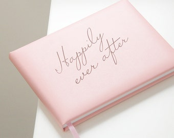 Leather 'Happily Ever After' Wedding Guest Book