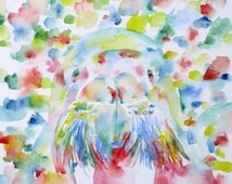 WALRUS - original watercolor painting - one of a kind!