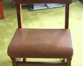 Vintage EAMES ERA 1960's Childs Wooden School Chair