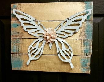 Rustic Butterfly Art