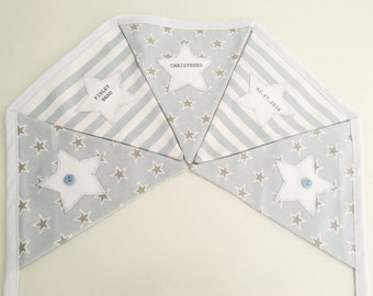 Personalised Boys Christening Bunting