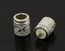 Dreadlock Beads 'Elivish' x 5 - loc jewelery beard silver Dreads UK