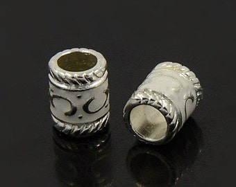 Dreadlock Beads 'Elivish' x 5 - loc jewelery beard silver Dreads UK