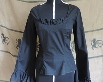 """Gothic blouse """"Anna"""", long medieval-like sleeves"""