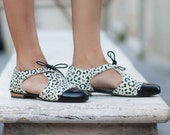 New! Leather Sandals, Printed Leather Sandals, Women Sandals, Leather Oxfords, Summer Shoes, Lace Sandals , Leather Flats, Free Shipping