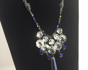 Multi-chain Vintage Crystal Necklace