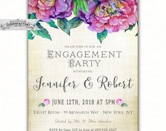 Wedding Engagement Invitations, Purple Jewel Tones Wedding Invitations, Engagement Party, Couples Shower, Bridal Shower, Dinner Party