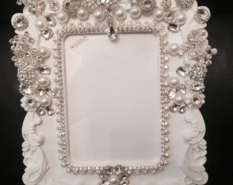 Wedding - Crystalized picture frame for wedding