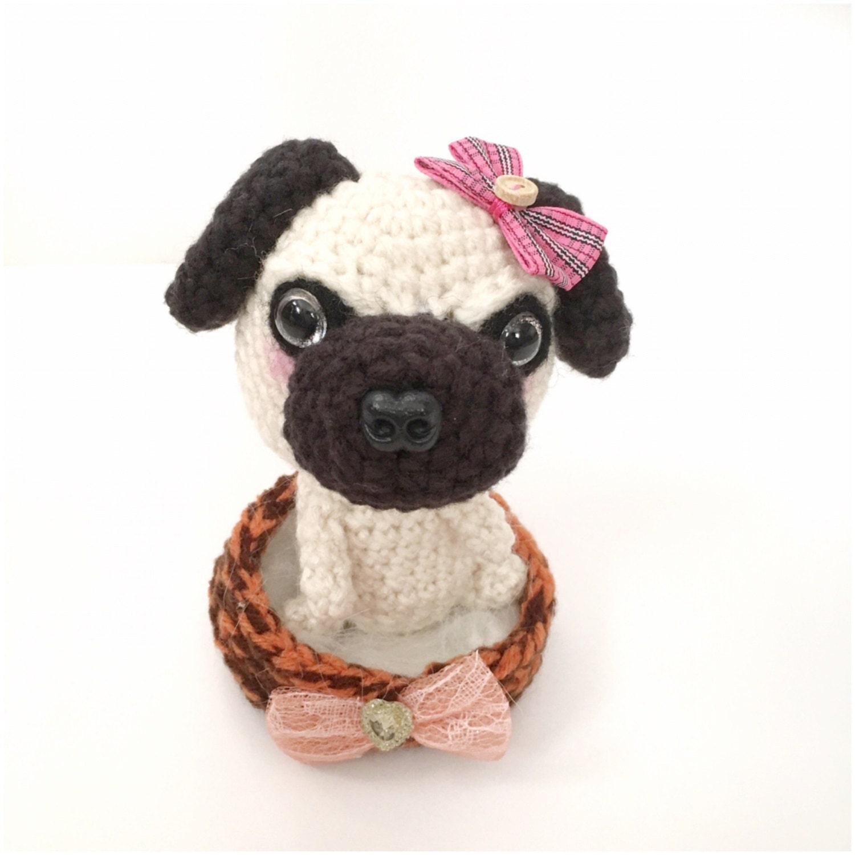 Amigurumi Pug Amigurumi Puppy Plush Crochet Puppy Doll Stuffed