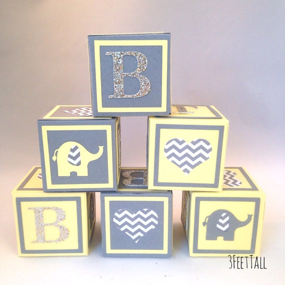 small alphabet blocks baby shower decorations baby shower table