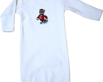 NC State Wolfpack Baby Layette Gown