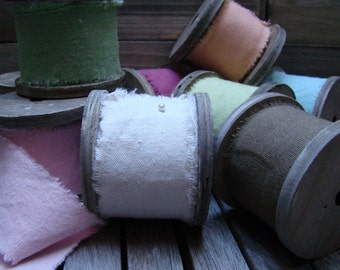 Muslin, Ribbon, Muslin Ribbon, Natural Ribbon, Spool