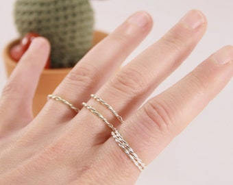 Sterling silver swirl ring.
