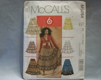 McCall's Pattern #M5054 Misses Tiered Skirts Size EE (14-16-18-20)