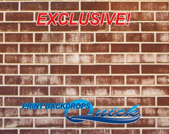 Red Rust Brick - EXCLUSIVE - Vinyl Photography Backdrops
