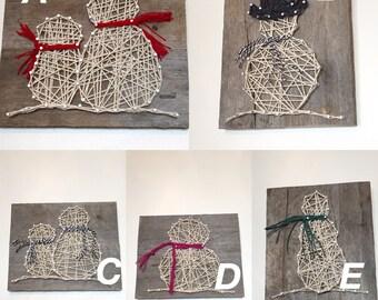 String Art Snowmen