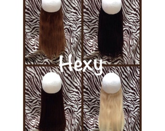 """SALE 14-16"""" 100g full head halo flip in HEXY invisible secret miracle wire human indian remy hair extensions brown blonde ready to post!"""