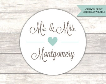 Mr and Mrs stickers - Envelope seals - Envelope stickers - Wedding stickers - Wedding envelope seals (RW004)