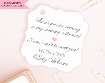 Baby shower tags (30) - Baby shower favor tags - Baby shower thank you tags - Baby shower gift tags
