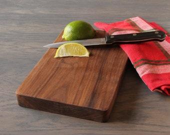 Wooden Cutting Board, Walnut Bar Board, Bar Cutting Board, Camping Cutting Board