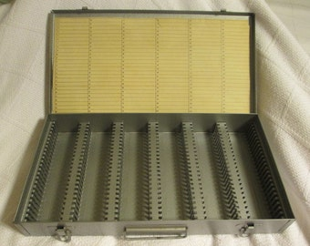 Logan De Luxe Metal Slide Box, Slide Carrier, Slide Storage, Slide File Storage Box, Industrial Storage