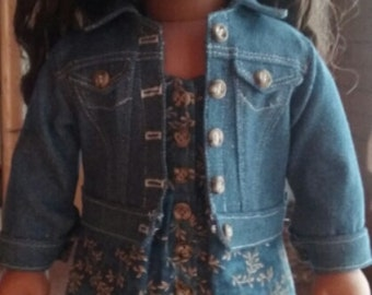 Jeans Jacket for 18 inch dolls