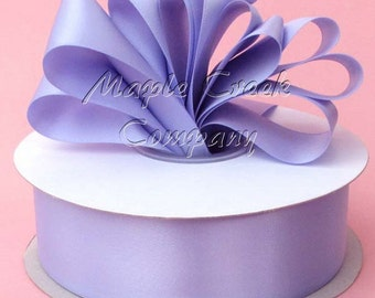 3/8 inch x 100 yards of Iris Periwinkle Double Face Satin Ribbon