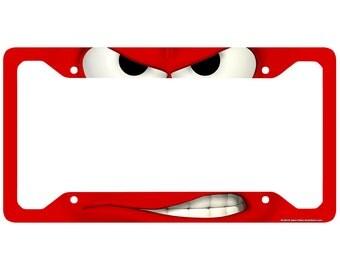 funny license plate frame smirk car tag frame back off license plate holder angry mad decorative license plate frame 30 434
