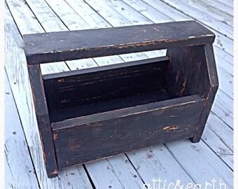 Wooden Carrier Box