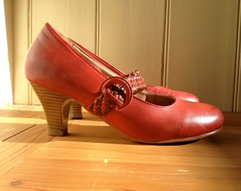 Riversoft Red Mary Jane with heel Size EU 39 or  8.5