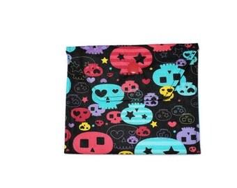 Handmade Fabric Mini Wallet/Card Holder - Skulls