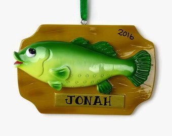 SHIPS FREE - Trophy Fish Ornament Personalized Ornament - Hand Personalized Christmas Ornament