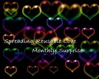 Spreading Reusable Love ~ Monthly Surprise, Cloth Pad Monthly Subscription, Liners, Regular, and Heavy Pads