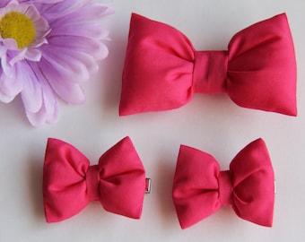 Hot Pink Hair Bow, Hot Pink Hair Clip, Girl's Hair Clip, Bow Hair Clip for Baby, Toddler, Girls & Adult