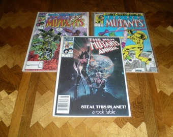 New Mutants Annual 1, 3, Special Edition 1, (1984-1987), X-Men, Marvel MR