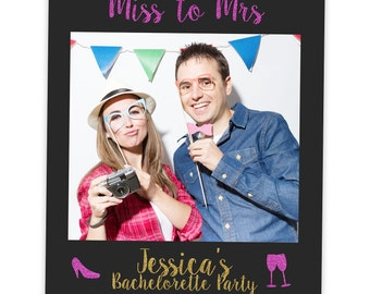 Pink Gold Bachelorette Prop | Bachelorette Photo Booth Prop | Bachelorette Party | Selfie Frame | Bachelorette Favor | Bride Gift