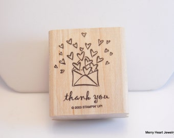 Stampin' Up Thank You Stamp With Hearts