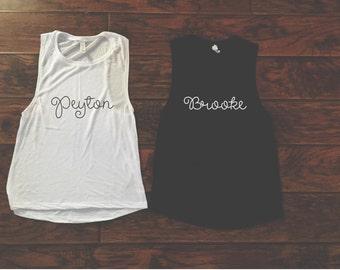 Peyton/Brooke BFF Muscle Tank