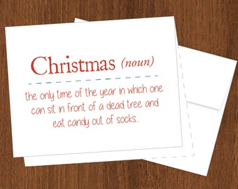 Christmas Definition - Funny Christmas Cards - A2