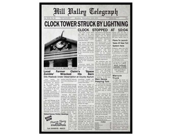 Back To The Future: Hill Valley Telegraph 1955 Poster