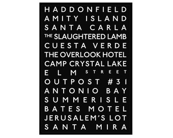 Various Horror: Destinations Bus Blind Poster